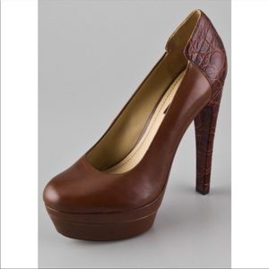 Rachel Zoe Annie platform pumps brown sz 6.5